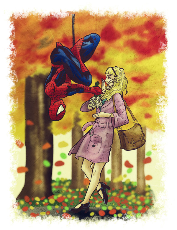 Gwen Stacy and Spidey Spider-Man Peter Parker