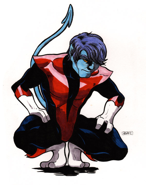 Nightcrawler crouching